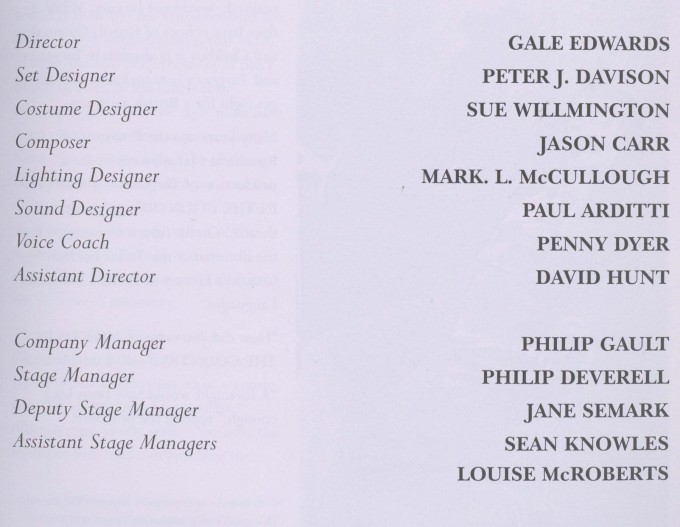Cast list - Fortune's Fools - 1996 - 2 of 2