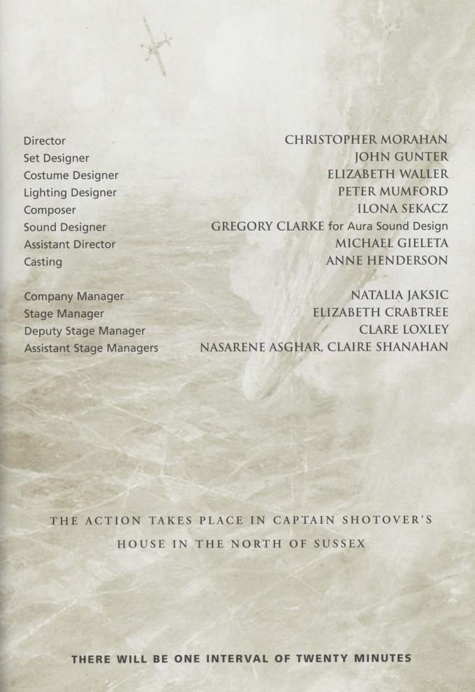 Cast list - Heartbreak House - 2000 - 2 of 2
