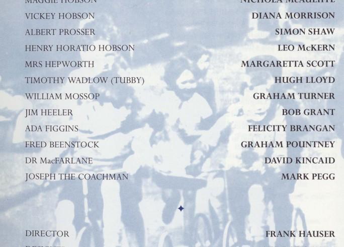 Cast list -Hobsons Choice - 1995 - 1 of 2