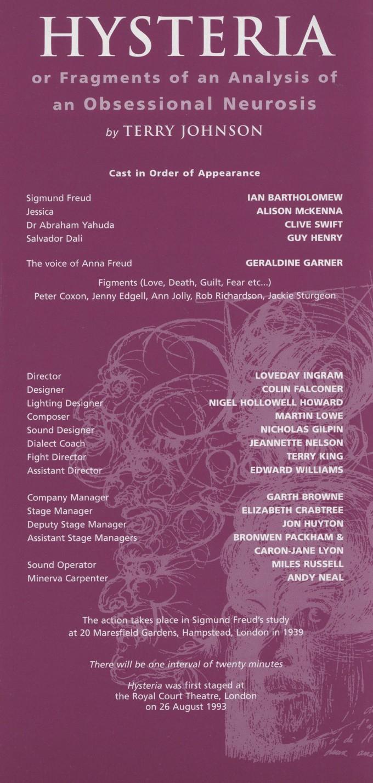 Cast list - Hysteria - 2000
