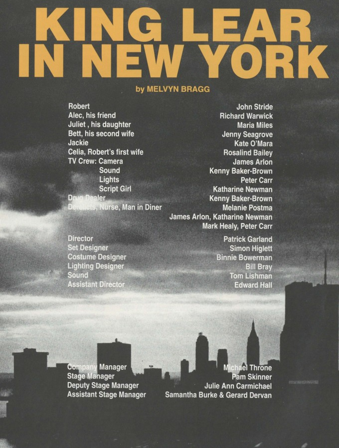 Cast list - King lear in New York - 1992