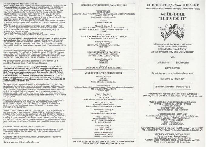 Cast list - Let's do it - 1994 - 1 of 2