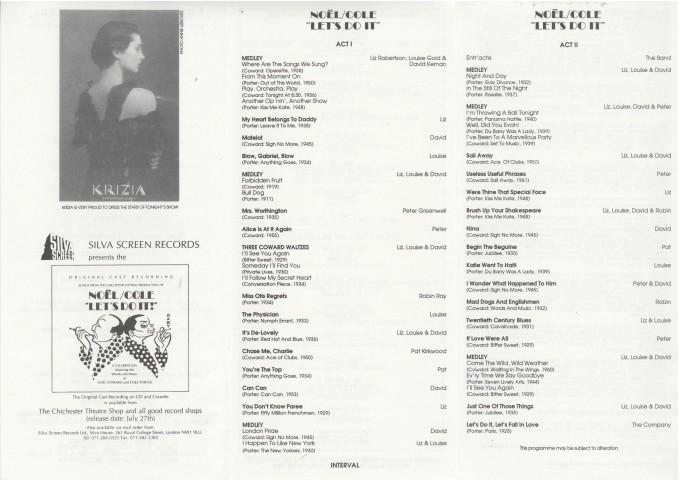 Cast list - Let's do it - 1994 - 2 of 2