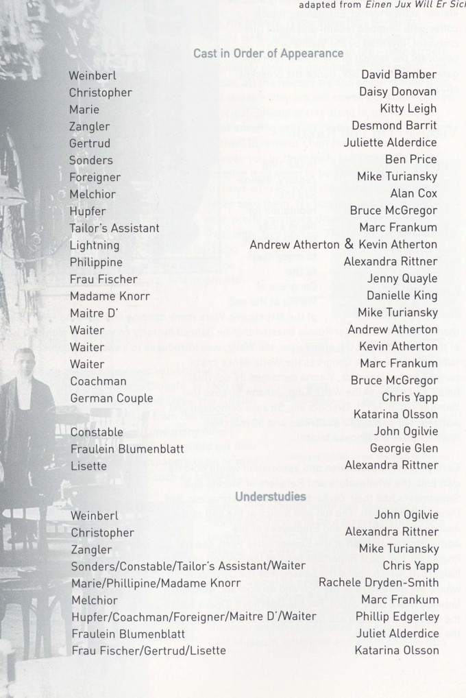 Cast list - On the Razzle - 2001 -1 of 2