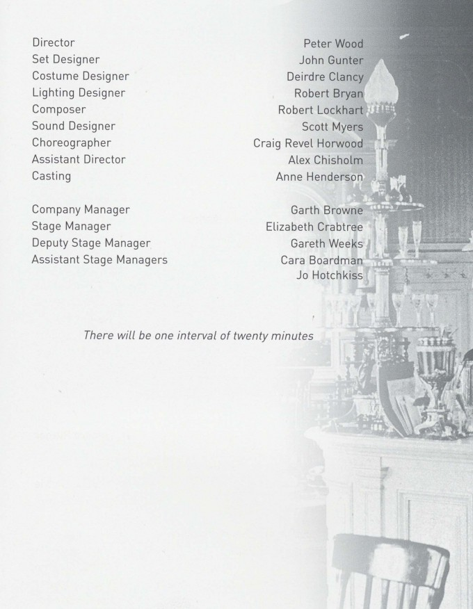 Cast list - On the Razzle - 2001 -2 of 2