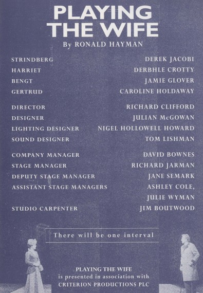 Cast list - Playing the Wife - 1995