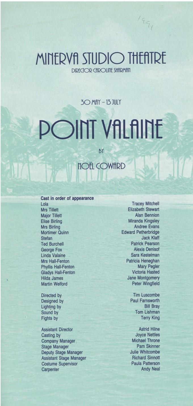 Cast list - Point Valaine - 1991