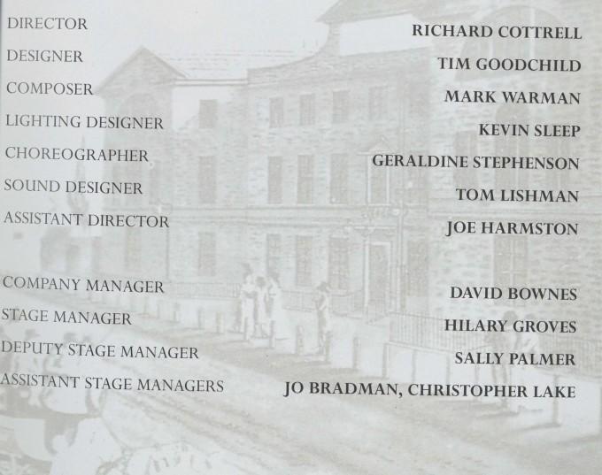 Cast list - School for Scandal - 1995 - 2 of 2