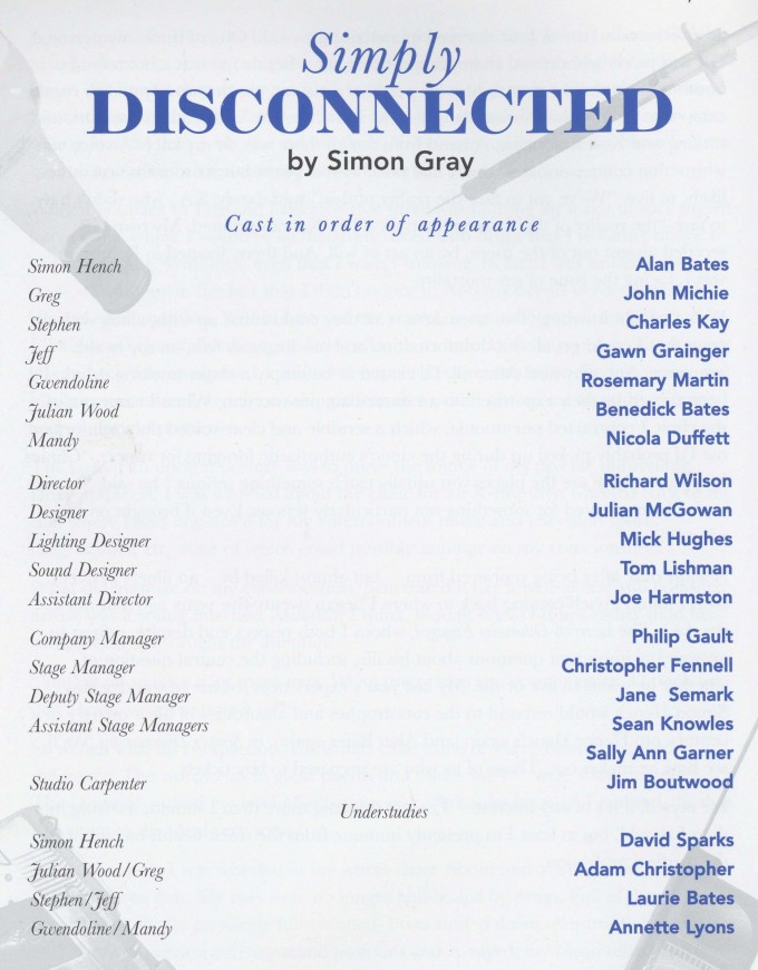 Cast list - Simply Disconnected - 1996