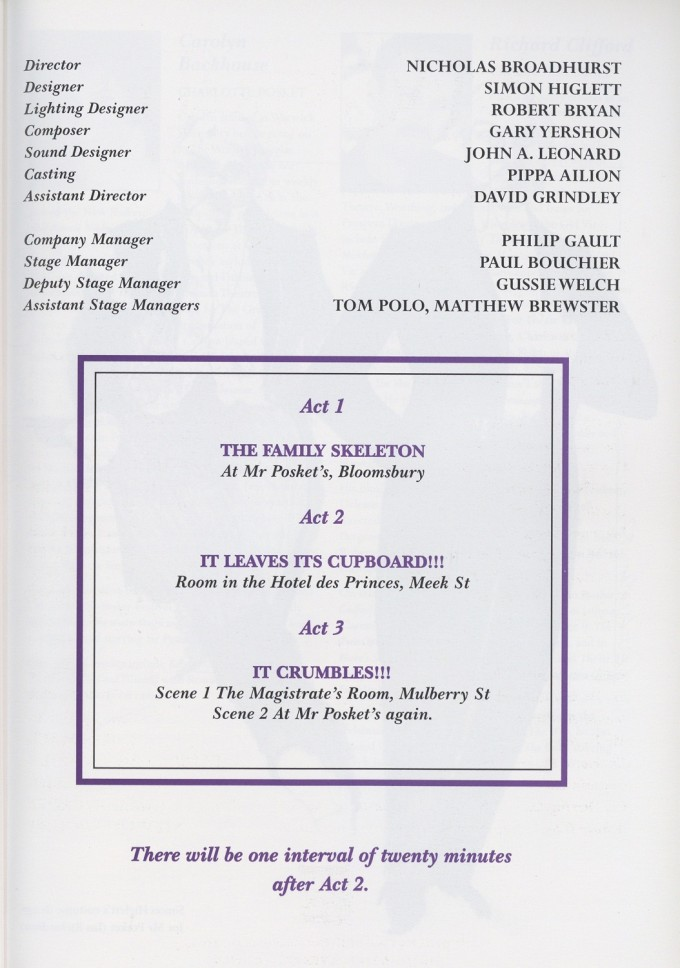 Cast list - The Magistrate - 1997 - 1 of  2