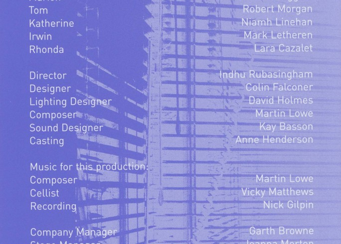 Cast list - The Secret Rapture - 2001
