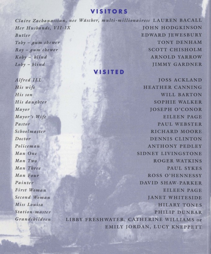 Cast list - The Visit - 1995 - 1 of 2