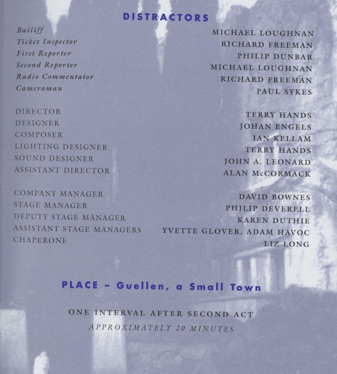 Cast list - The Visit - 1995 - 2 of 2