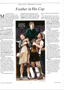 Goodnight Mister Tom review, London Theatre News, January February 2013