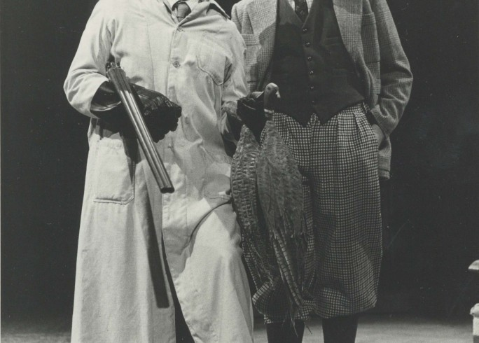 Production Photograph - Forty Years On - Stephen Fry, John Fortune - Photographer Reg Wilson -1984 H25.5cm W20.5cm 1 of 2