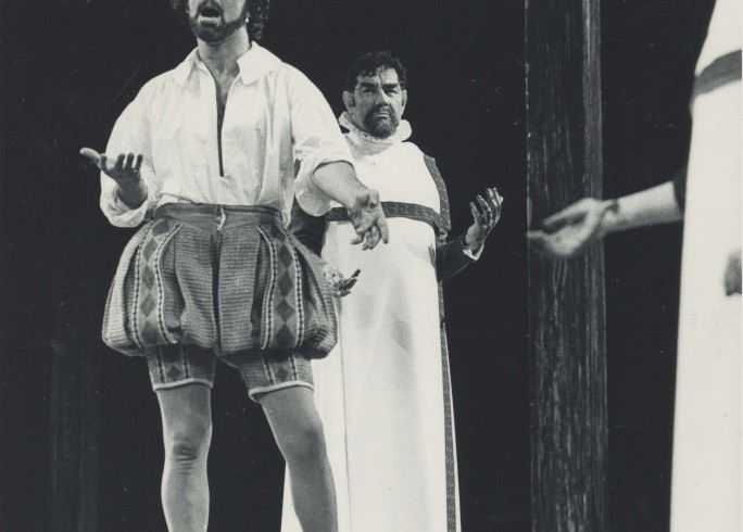 Production Photograph - Julius Caesar - Charles Keating, Paul Hardwick - Photographer Reg Wilson - 1977 - H25.5cm W20.5cm - 1 of 2