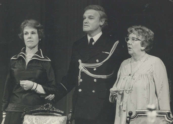 Production Photograph - The Apple Cart - June Jago, Keith Michell, Dandy Nichols - Photographer John Timber - 1977 H19.5cm W24cm 1 of 2