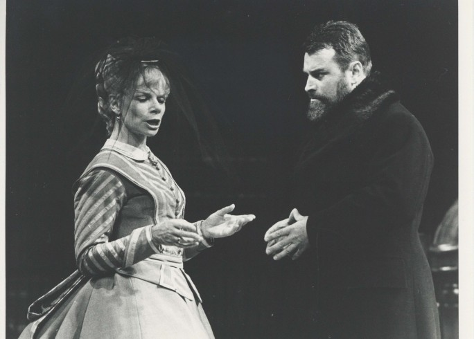Production Photograph - The Eagle has Two Heads - Jill Bennett, Brian Blessed - Photographer Reg Wilson - 1979