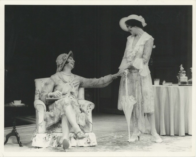 Production Photograph - The Last of Mrs Cheyney - Joan Collins, Moyra Fraser - Photographer John Timbers 1980 H20.3cm W25.4cm