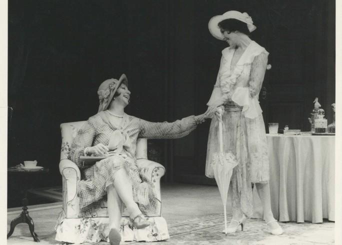 Production Photograph - The Last of Mrs Cheyney - Joan Collins, Moyra Fraser - Photographer John Timbers 1980 H20.3cm W25.4cm