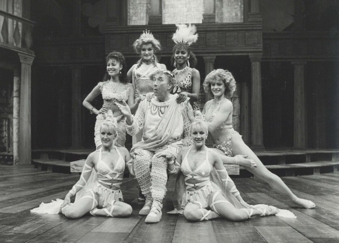 Production photograph - A Funny Thing Happened On the Way to the Forum - Frankie Howerd - Photographer Reg Wilson - 1986 - H20.5 x W25.5