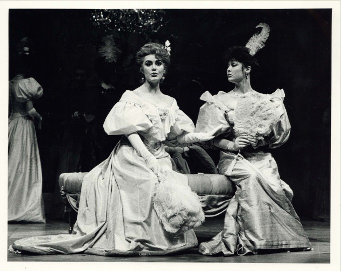 Production photograph - An Ideal Husband - Lynn Clayton, Rebecca Roper-Caldbeck - Photographer Catherine Ashmore - 1987 - H20xW25cm 1 of 2