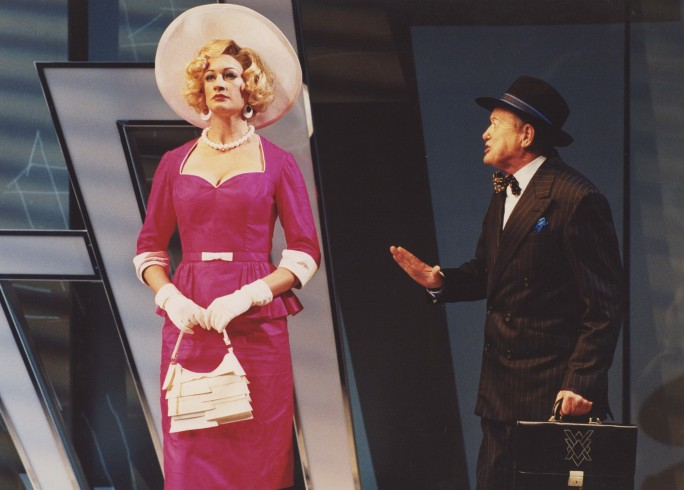 Production photograph - Annette McLaughlin, James Bolam - How to Succeed - 2005 - Clare Park - B