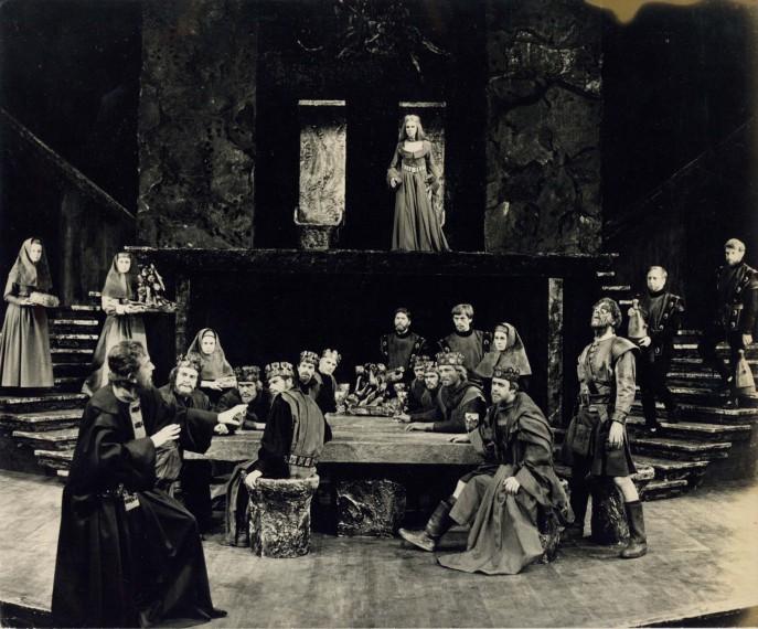 Production photograph - Macbeth - John Clements, Tom Courtenay, John Standing - Photographer Zoë Dominic -  1966 - H20xW25cm 1 of 2
