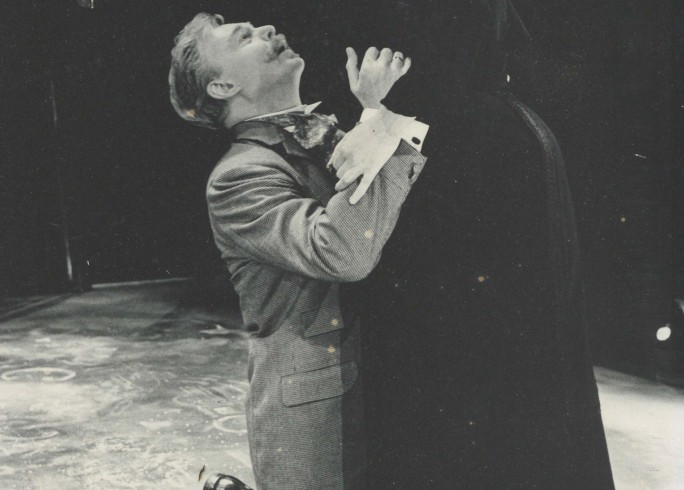 Production photograph - Playing the Wife - Derek Jacobi, Derbhle Crotty - Photographer unknown - 1995 - printed on board
