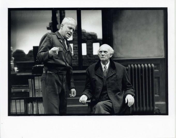 Production photograph -Taking Sides - Daniel Massey, Michael Pennington, Photographer - Ivan Kyncl - 1995 - H20xW25cm 1 of 2