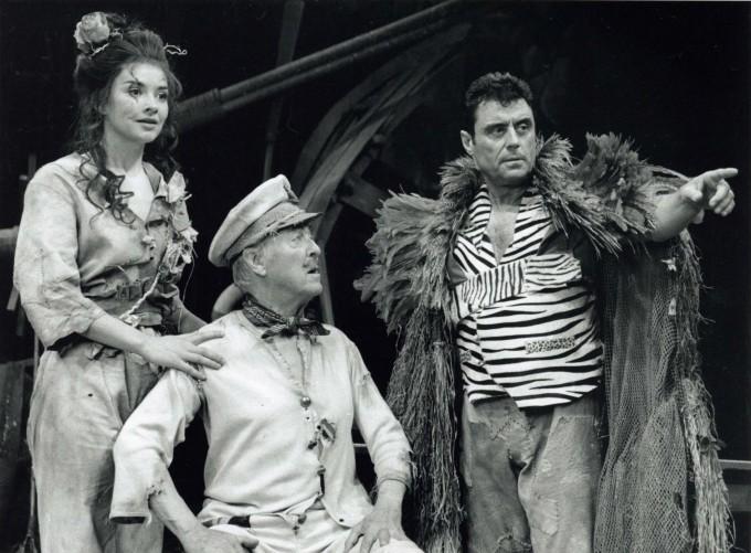 Production photograph -The Admirable Crichton - Victoria Scarborough, Michael Denison, Ian mcShane - Photographer - John Timbers - 1997 - H25xW20cm 1 of 2