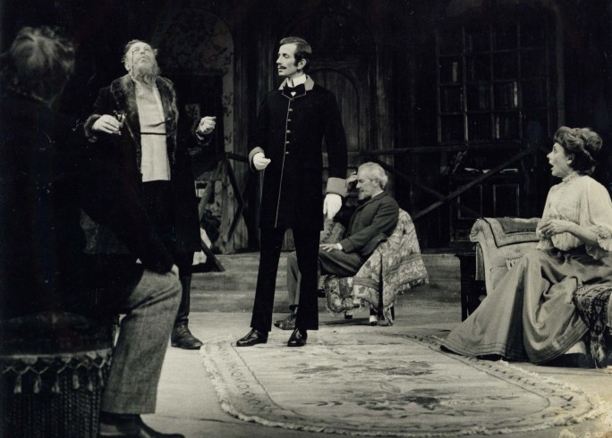 Production photograph - The Cherry Orchard - Bill Fraser, Michael Burrell, Hugh Williams, Celia Johnson - Photographer Zoë Dominic - 1966 - H20xW25cm 1 of 2