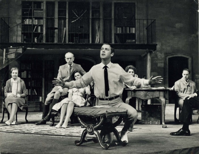 Production photograph - The Fighting Cock - John Standing, Zena Walker, Sarah Badel, Clive Swift - Photographer Zoë Dominic - 1966 - H20xW25cm 1 of 2
