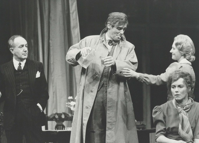Production photograph - Time and the Conways - Ronnie Stevens, Simon Williams, Julia Foster, Lucy Fleming - Photographer Reg Wilson - 1983 H20.5 x W25.5 1 of 2