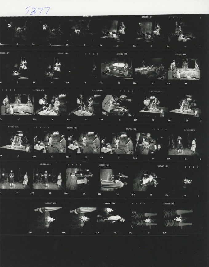 Production photograph contact sheet - Warrior - Photographer Unknown - 1989 H30 x W24
