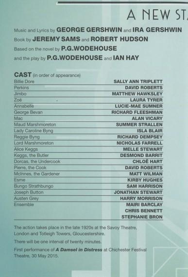 Cast List - Damsel in Distress - 2015 - 1 of 4