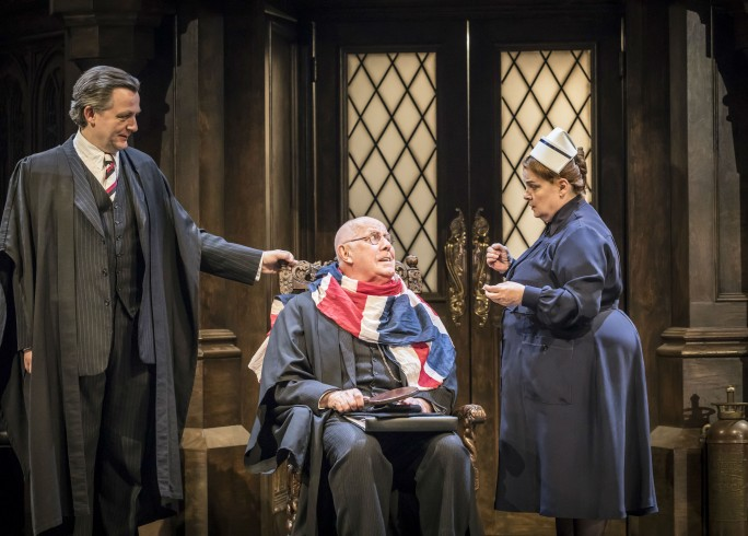 Production photograph - Forty Years On - Alan Cox, Richard Wilson, Jenny Galloway - Photographer Johan Persson - 2017