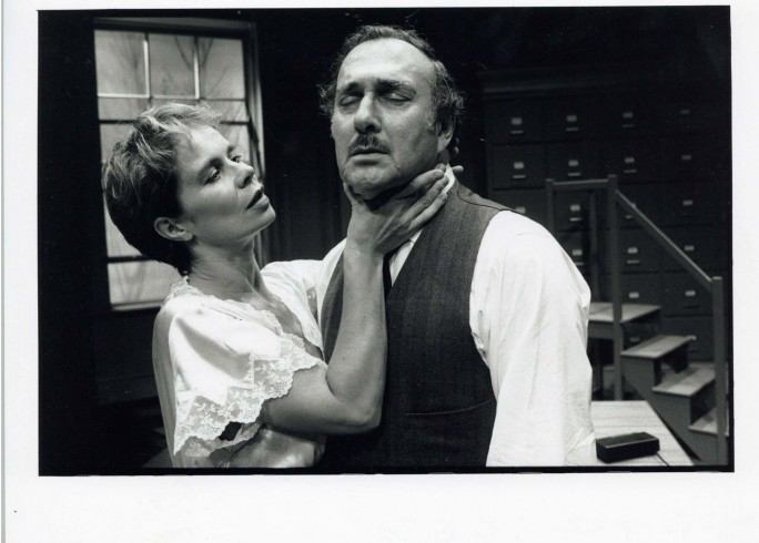 Production photograph - The Hothouse - Celia Imrie, Harold Pinter - Photographer Ivan Kyncl - 1995 - H25xW20cm - 1 of 2