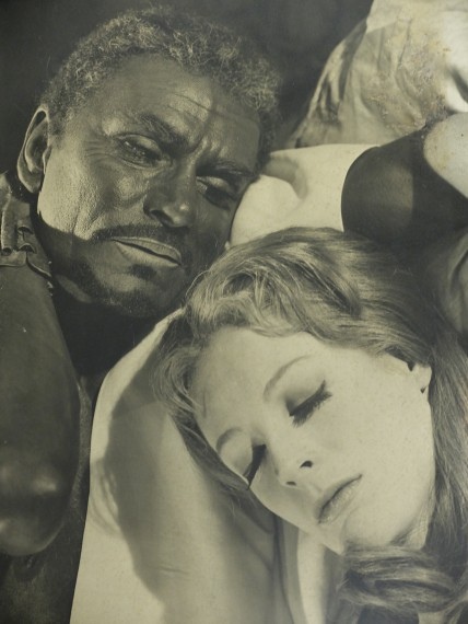 Production photograph - Othello - Laurence Olivier, Maggie Smith - Photographer Angus McBean - 1964 - Mounted on board