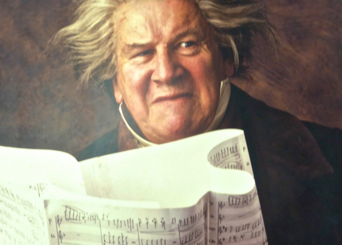 Production photograph - Beethoven's Tenth - Peter Ustinov - Photographer John Timbers - 1996 - Mounted on board