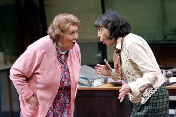 """A scene from """"Office Suite"""" @ Minerva, Chichester Festival Theatre. Directed by Edward Kemp. (opening 18-04-07) (©Tristram Kenton 04-07) 3 Raveley Street, London NW5 2HX. Tel: 02072675550 mobile: 07973617355. email: tristram@tristramkenton.com"""