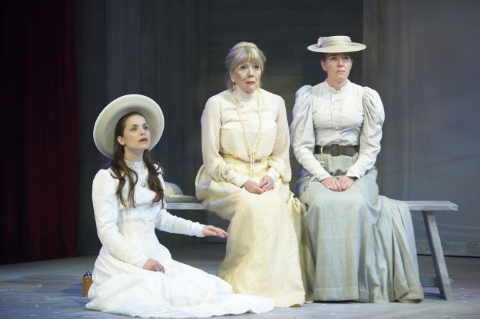 Production photograph - The Cherry Orchard - Charlotte Riley, Diana Rigg, Jemma Redgrave - photographer Manuel Harlan - 2008 - 1 of 2